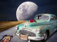 Mala poduszka jasiek full print Vintage American Car Ksiezyc