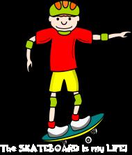 Koszulka z nadrukiem The skateboard is my life!