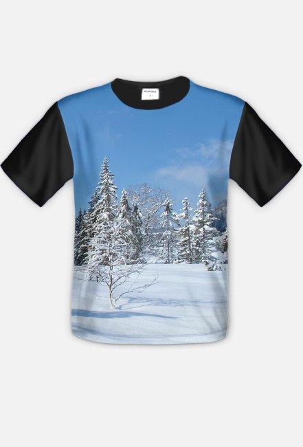 Koszulka FullPrint Pejzaz zimowy