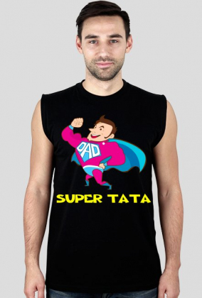 Koszulka bez rękawów Super Tata
