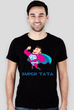 Koszulka z nadrukiem Super Tata