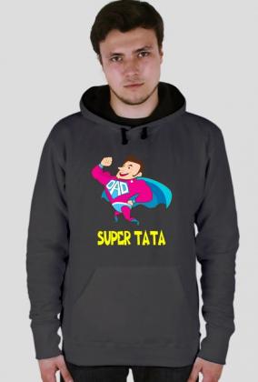 Bluza z nadrukiem Super Tata