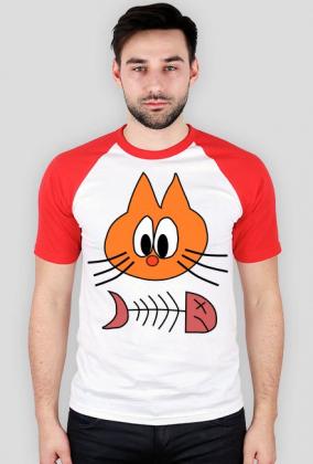 Koszulka z nadrukiem Kot i Śledź