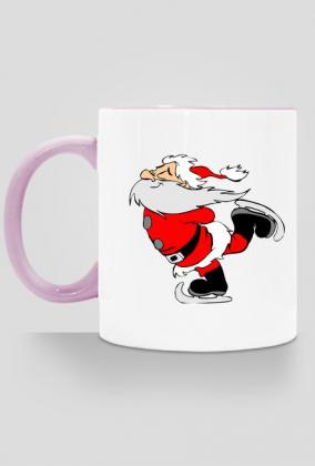 Kubek Mikołaj na łyżwach