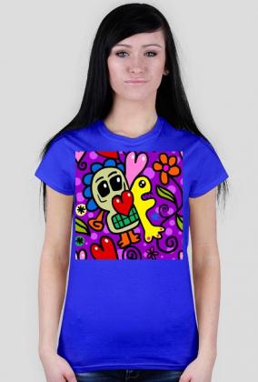 Koszulka z nadrukiem damska Serce