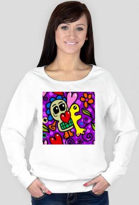 Bluza damska z nadrukiem Serce