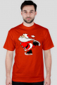 T-Shirt Koszulka z nadrukiem Mikołaj na łyżwach