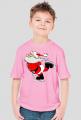 Koszulka dziecięca z nadrukiem Mikołaj na łyżwach