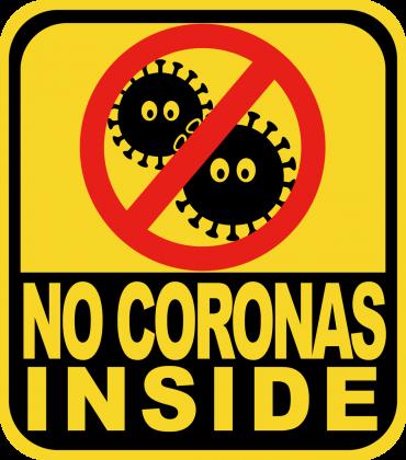 No coronas inside