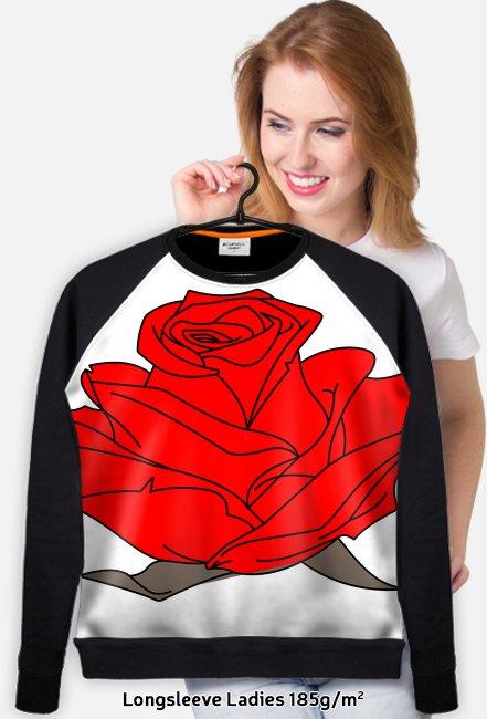 0a63e063c Cienka bluza damska z różą - bluza fullprint w Koszulki z napisami ...