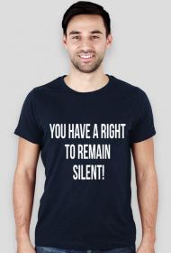 Koszulka męska granatowa - You have a right to remain silent