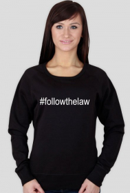 Bluza damska czarna - #followthelaw