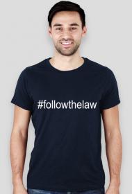 Koszulka męska granatowa - #followthelaw