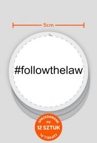 Wlepki białe - #followthelaw