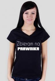Koszulka damska czarna - Zbieram na prawnika