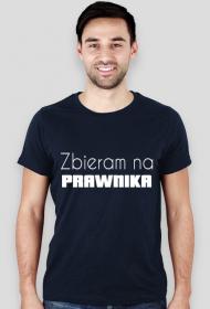 Koszulka męska granatowa - Zbieram na prawnika