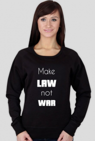 Bluza damska czarna - Make law not war