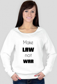 Bluza damska biała - Make law not war