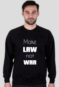 Bluza męska czarna - Make law not war