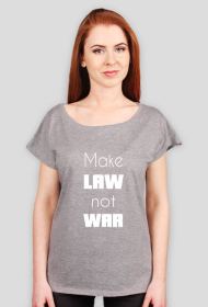 Koszulka szara oversize - Make law not war