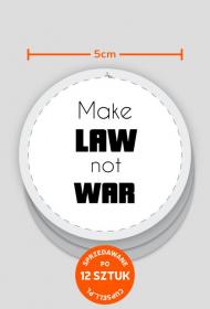 Wlepki białe - Make law not war