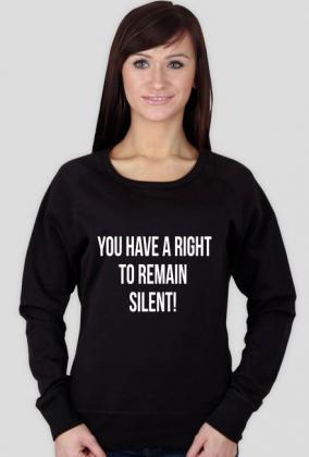 Bluza damska czarna - You have a right to remain silent