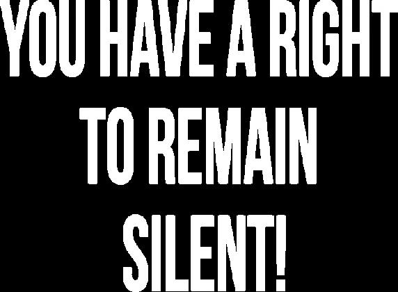 Koszulka męska czarna - You have a right to remain silent