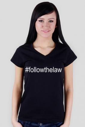 Koszulka damska czarna - #followthelaw