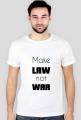 Koszulka męska granatowa - Make law not war