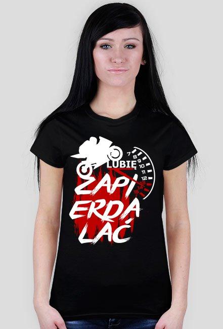 Lubię zap*** zegary - koszulka motocyklowa damska