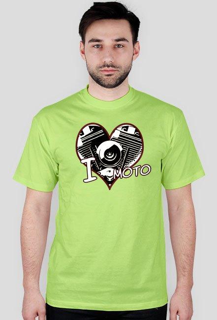 I love moto serce - męska koszulka motocyklowa