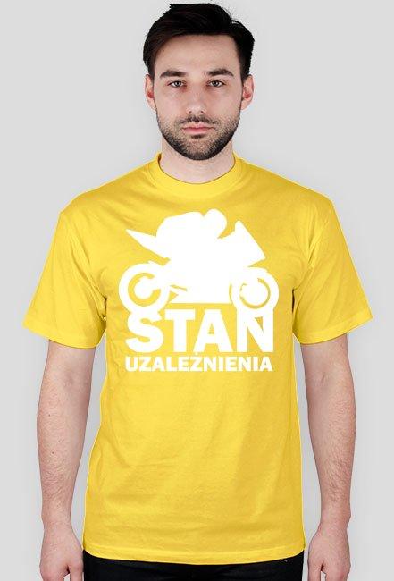 Stan uzależnienia black - męska koszulka motocyklowa