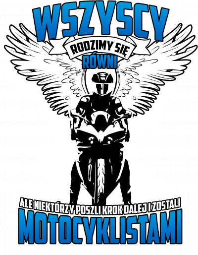 Wszyscy rodzimy się równi, ale niektórzy poszli krok dalej i zostali motocyklistami - męska koszulka motocyklowa