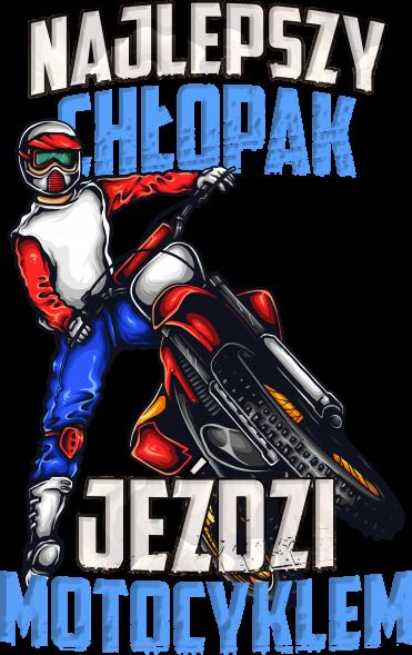 Najlepszy chłopak jeździ motocyklem - męska koszulka motocyklowa