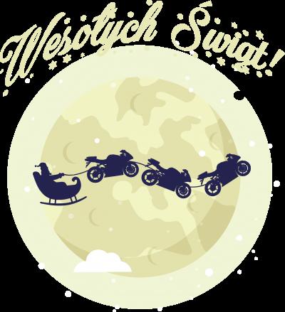 """Wesołych Świąt """"motosanie"""" - Bluza motocyklowa"""
