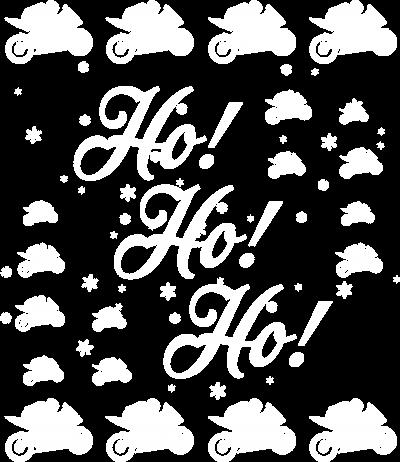 Ho Ho Ho koszulka świąteczna (biały napis) - bluza motocyklowa