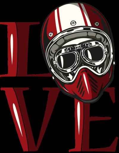 Love kask - damska koszulka motocyklowa
