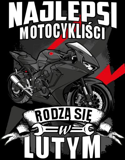 Najlepsi motocykliści rodzą się w LUTYM - męska koszulka motocyklowa