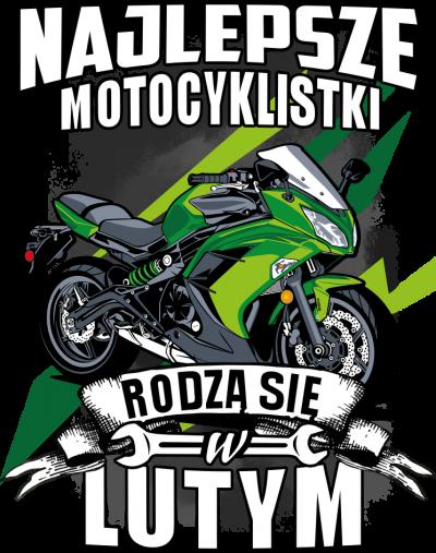 Najlepsze motocyklistki rodzą się w LUTYM - damska koszulka motocyklowa