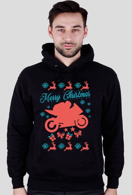 Merry Christmas - świąteczna bluza motocyklowa