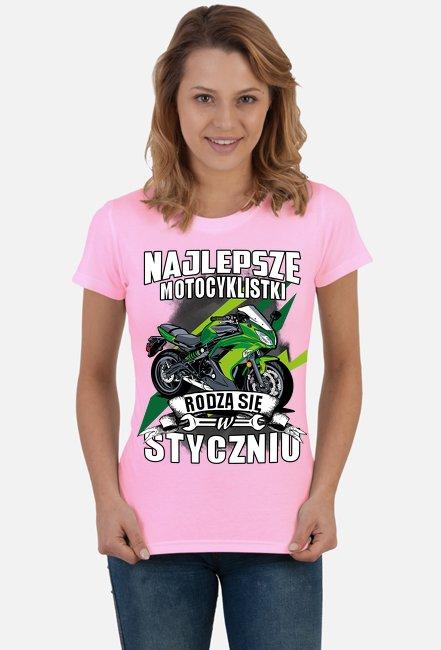Najlepsze motocyklistki rodzą się w STYCZNIU - damska koszulka motocyklowa
