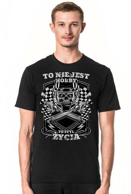 To nie jest hobby, to styl życia - męska koszulka motocyklowa