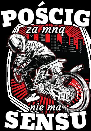 Pościg za mną nie ma sensu - Męska koszulka motocyklowa