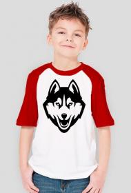 CZARNY WILK koszulka dziecięca