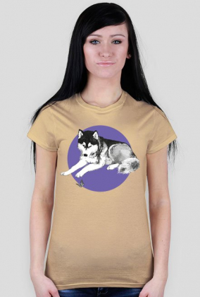 HUSKY I MOTYL t-shirt damski