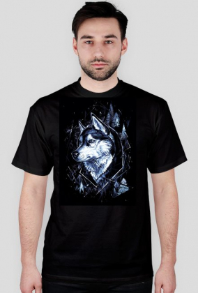 HUSKY FOREST t-shirt męski