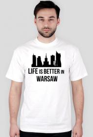 Life is better in Warsaw White T-shirt Men