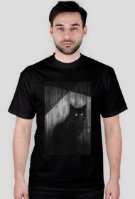 Czarny kot, koszulka męska