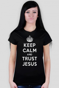 Keep Calm and Trust Jesus (kolorowa)