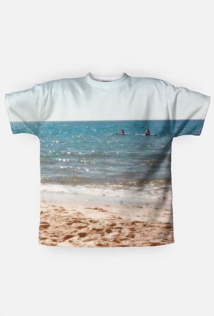 Koszulka męska Full Print Dwustronna  Wakacje Napis - Summer